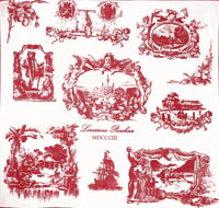Cranberry Toile